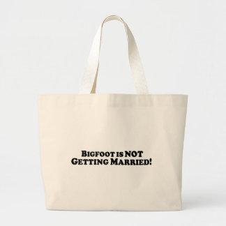 Bigfoot no está consiguiendo casado - básico bolsas lienzo