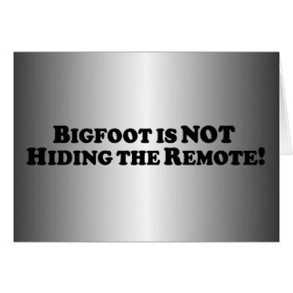 Bigfoot no está ocultando el telecontrol - básico tarjeton