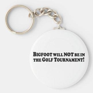 Bigfoot no estará en el torneo del golf - básico llavero redondo tipo pin