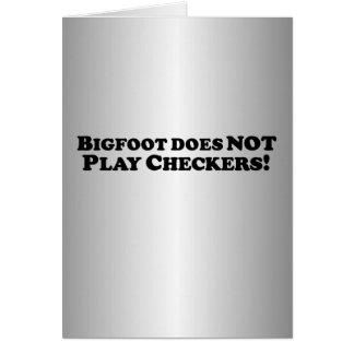 Bigfoot no juega a los inspectores - básicos felicitación