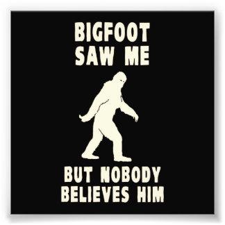 Bigfoot no vio me pero a nadie lo cree arte con fotos