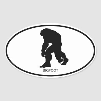 Bigfoot Oval Sticker