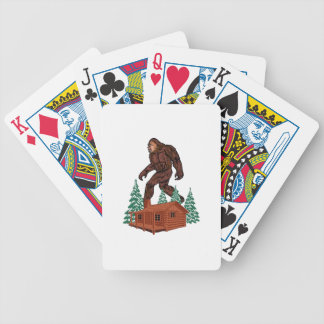 Bigfoot Paradise Bicycle Playing Cards