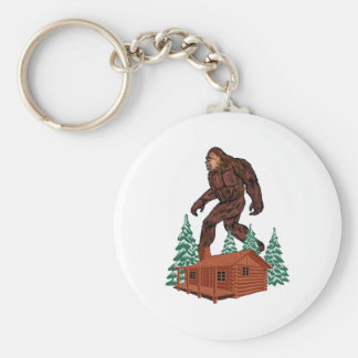 Bigfoot Paradise Keychain