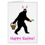¡Bigfoot Pascua feliz! Tarjeta