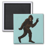 Bigfoot Peace 2 Inch Square Magnet