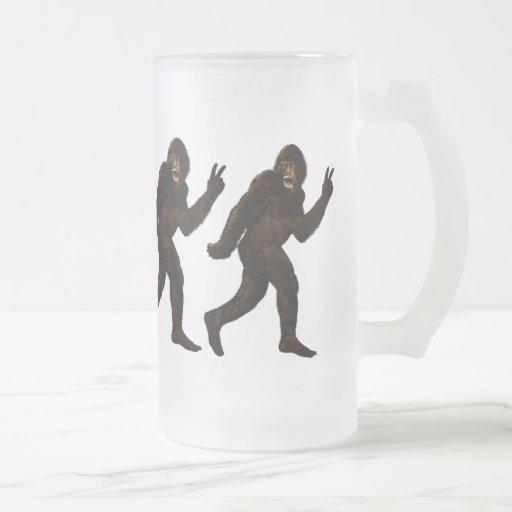 Bigfoot Peace Coffee Mugs