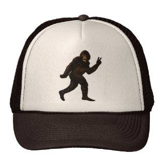 Bigfoot Peace Trucker Hats
