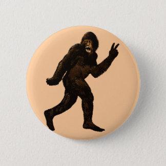 Bigfoot Peace Sign Button