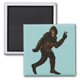 Bigfoot Peace Sign Magnet