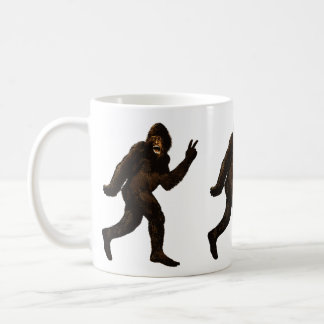 Bigfoot Peace Sign Mug