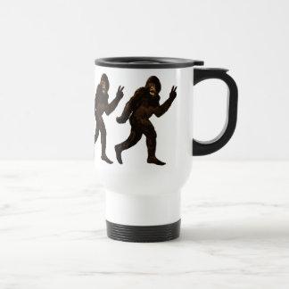 Bigfoot Peace Sign Coffee Mug