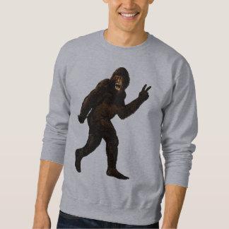 Bigfoot Peace Sign Pullover Sweatshirt