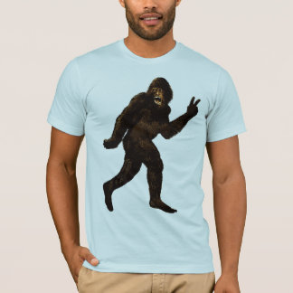 Bigfoot Peace Sign T-Shirt