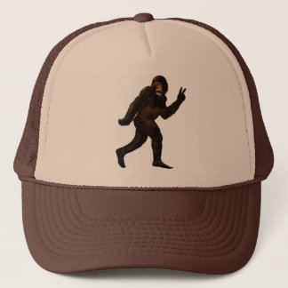 Bigfoot Peace Sign Trucker Hat