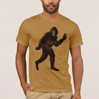 Bigfoot Peace Squatchin T-Shirt