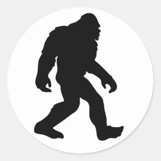 Bigfoot Etiqueta Redonda