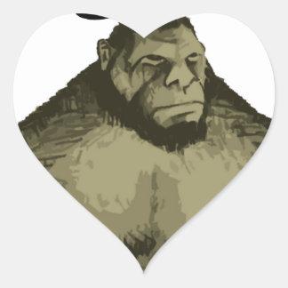 Bigfoot Pegatina En Forma De Corazón
