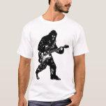 Bigfoot Playing Guitar Electric Guitar Sasquatch V T-Shirt