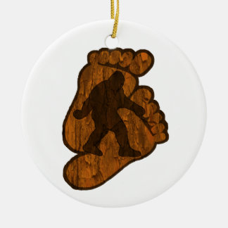 Bigfoot Prints Ceramic Ornament