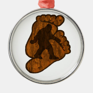 Bigfoot Prints Metal Ornament