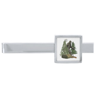 bigfoot products silver finish tie clip