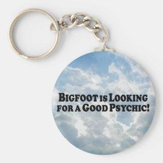 Bigfoot que mira para buen psíquico - básico llavero