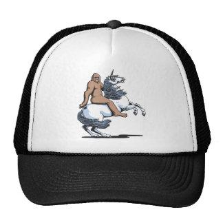 Bigfoot que monta un unicornio gorros bordados
