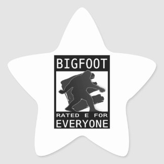 Bigfoot Rated 'E' For Everyon Star Sticker