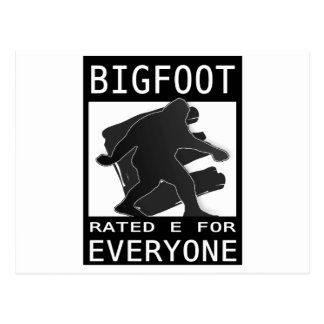 Bigfoot Rated 'E' For Everyone Postcards
