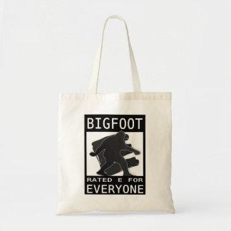 Bigfoot Rated 'E' For Everyone Tote Bag