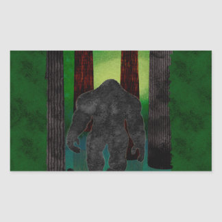 bigfoot rectangular sticker