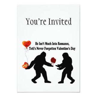 """Bigfoot recuerda el día de San Valentín Invitación 5"""" X 7"""""""