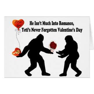 Bigfoot Remembers Valentine's Day Card