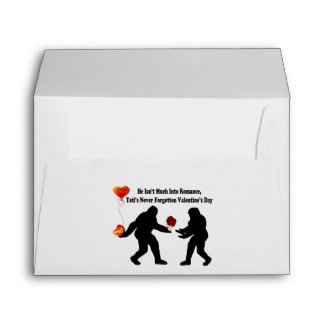 Bigfoot Remembers Valentine's Day Envelope