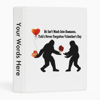 Bigfoot Remembers Valentine's Day Mini Binder