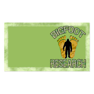 Bigfoot Research Business Cards