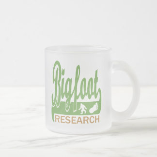 Bigfoot Research Frosted Glass Coffee Mug