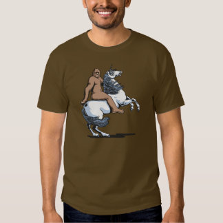 Bigfoot Riding a Unicorn Shirt