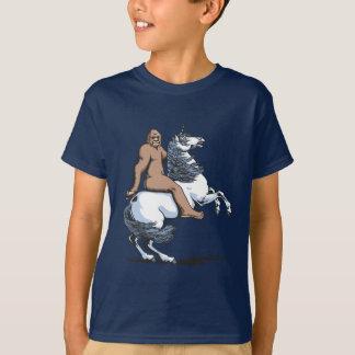 Bigfoot Riding a Unicorn T-Shirt