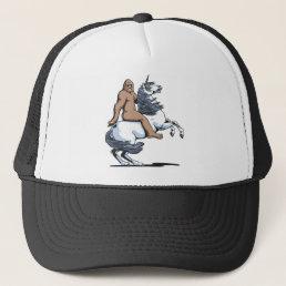 Bigfoot Riding a Unicorn Trucker Hat