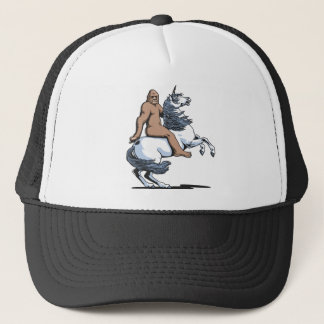 Bigfoot Riding a Unicorn Trucker Hat