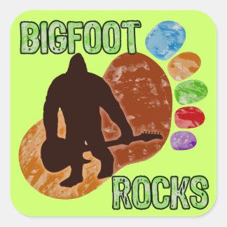 Bigfoot Rocks Square Sticker