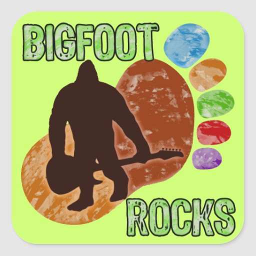 Bigfoot Rocks Sticker