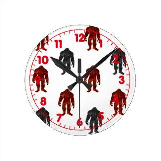 Bigfoot Round Clock