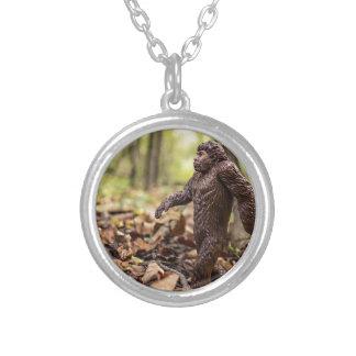Bigfoot Round Pendant Necklace | Sasquatch
