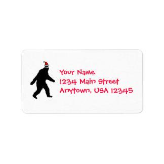Bigfoot Santa Address Label
