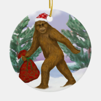 Bigfoot Santa Ornament