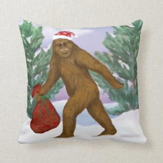 Bigfoot Santa Pillow