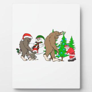 Bigfoot Santa snowman Plaque